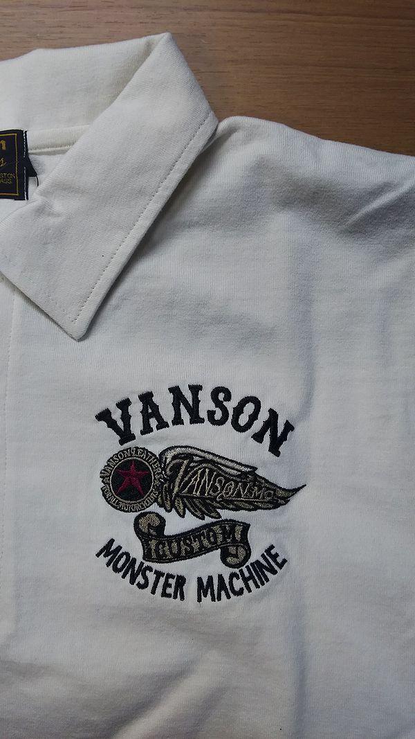 VANSON バンソン nvps-607 半袖ポロシャツ ナチュラル