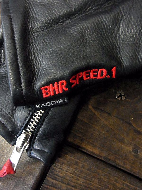 カドヤ(KADOYA) BHR-SPEED.1 BHRスピード1 レザーグローブ ブラック/レッド