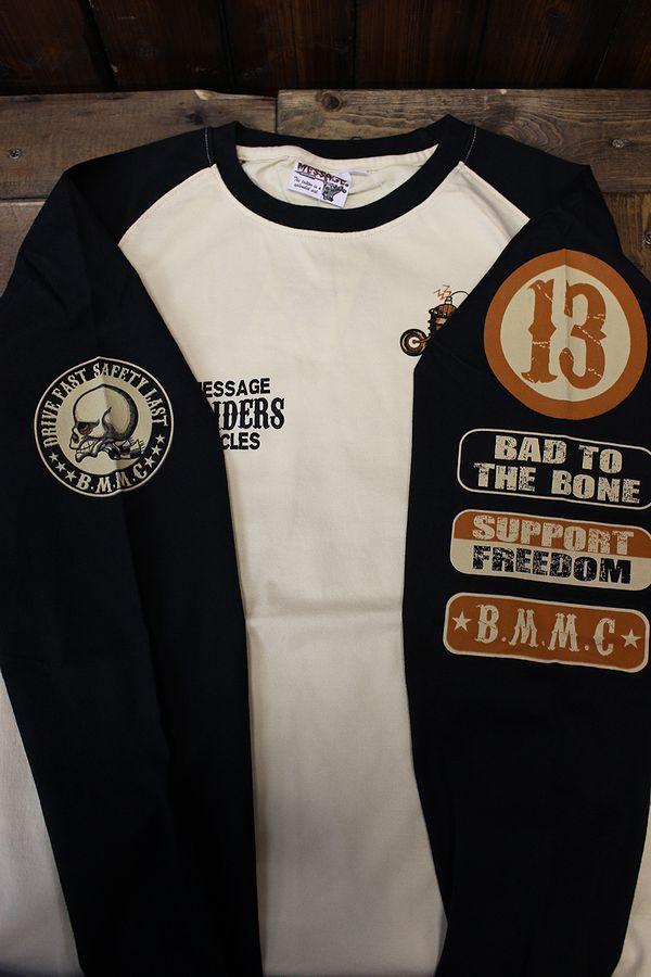 エフ商会 BLOOD MESSAGE BLLT-1080 ロングスリーブTシャツ 長袖Tシャツ ロンT