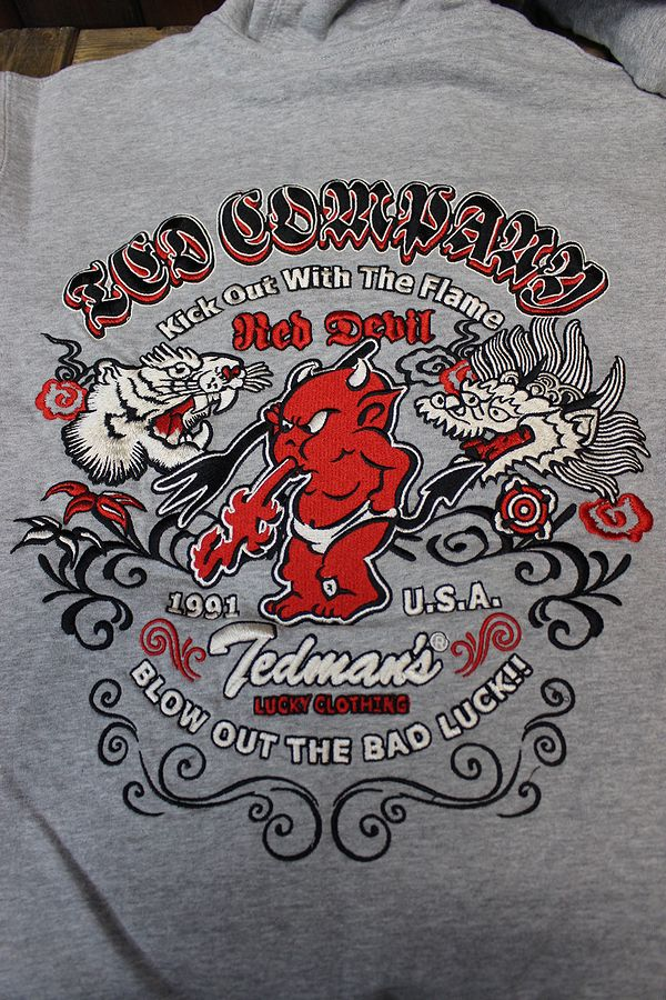 エフ商会 TEDMAN(テッドマン) TIGER&DRAGON TDSP-147 タイガードラゴン 刺繍スウェットパーカー