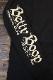 The BRAVE-MAN×BETTY BOOP ベティ長袖Tシャツ BBB-2131 天竺ロンTee 刺繍 ブラック