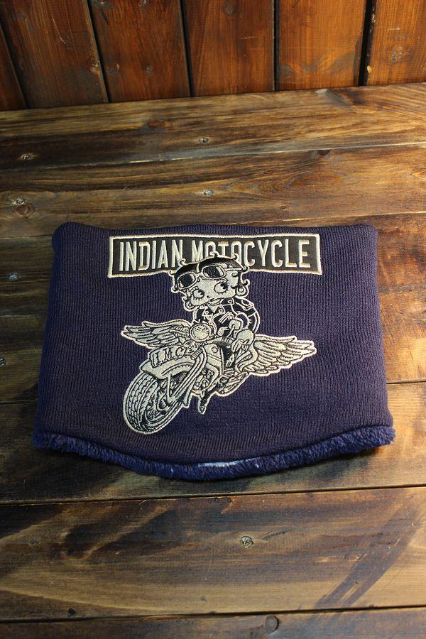 INDIAN MOTOCYCLE×BETTY BOOP インディアンモトサイクル×ベティー・ブープ BBI-955 リバーシブルネックウォーマー
