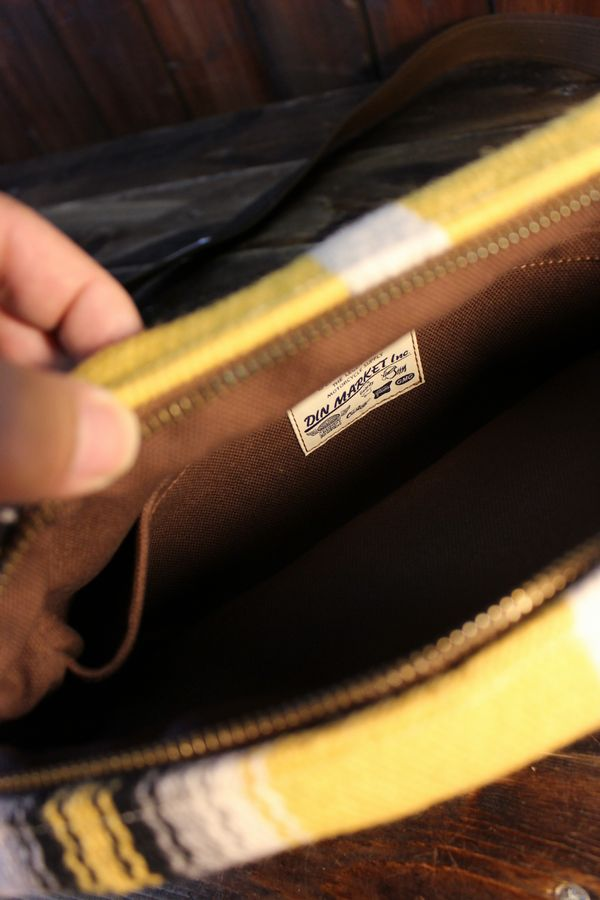 DIN MARKET ORTEGA'S DAY TRIP BAG オルテガズ デイ トリップバッグ ブラウンベース/イエロー系