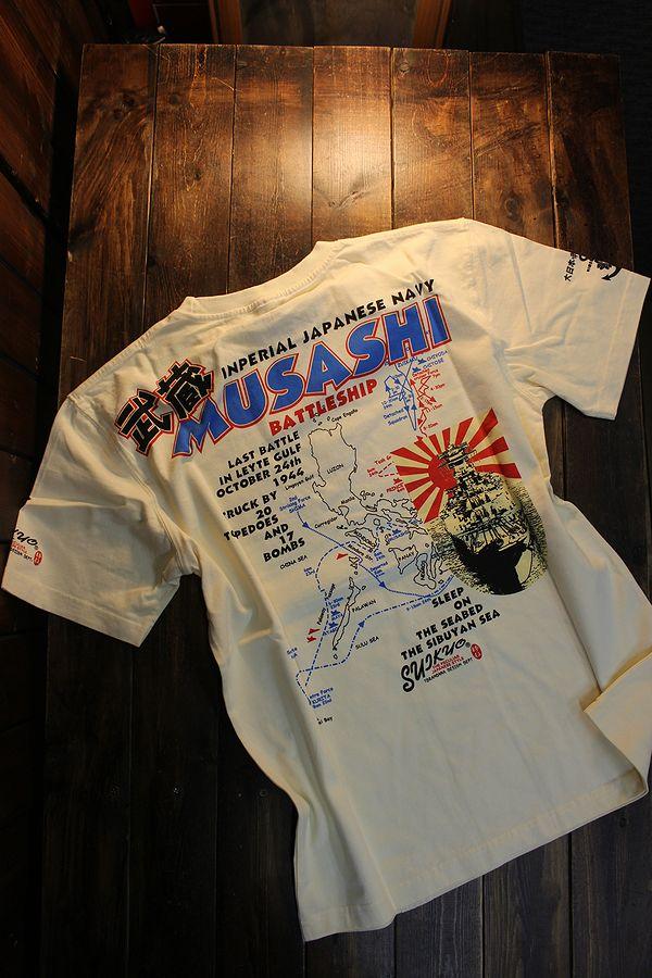 エフ商会 粋狂 すいきょう SYT-198 MUSASHI 戦艦武蔵 Tシャツ オフホワイト