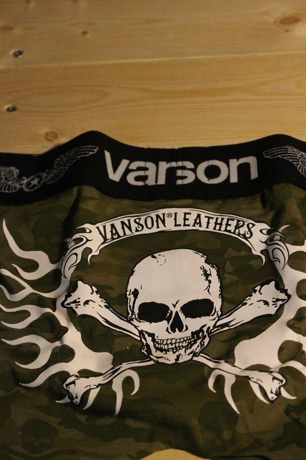 VANSON バンソン ボクサーパンツ アンダーウェア 下着 スカル 髑髏 迷彩柄 nvuw-702 カモフラ