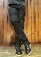 VANSON×CROWS×WORST 武装戦線 コラボ  CRV-2034 刺繍 ストレッチバイカーズパンツ ブラック
