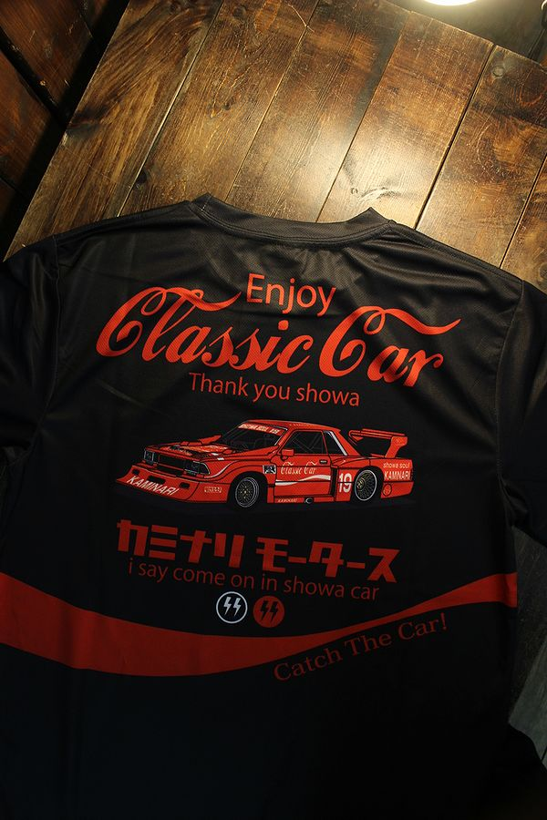 エフ商会 カミナリ  KDRYT-04 Enjoy Classic car ドライTee  クラッシックカー 910ブルーバード ブラック
