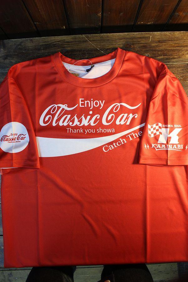 エフ商会 カミナリ  KDRYT-04 Enjoy Classic car ドライTee  クラッシックカー 910ブルーバード レッド