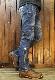 VANSON×CROWS×WORST 武装戦線 コラボ  CRV-2034 刺繍 ストレッチバイカーズパンツ インディゴ