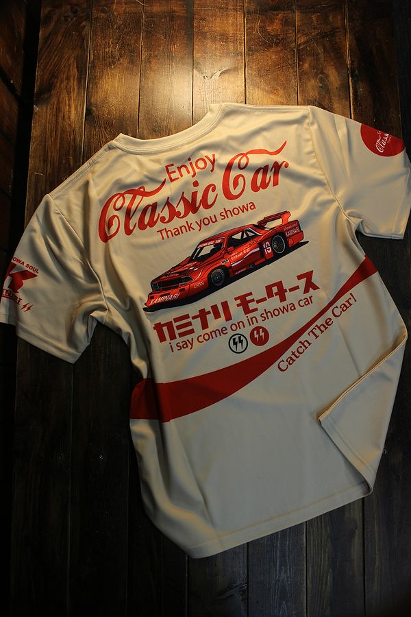 エフ商会 カミナリ  KDRYT-04 Enjoy Classic car ドライTee  クラッシックカー 910ブルーバード ベージュ