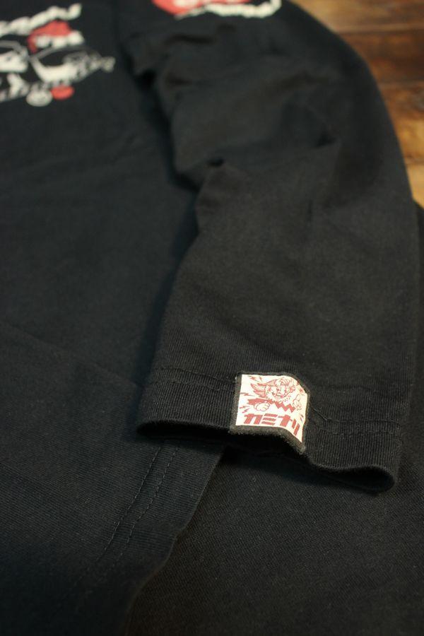 エフ商会 カミナリ KMLT-194 KAMINARI Go Go club コルベット 長袖Tシャツ ブラック