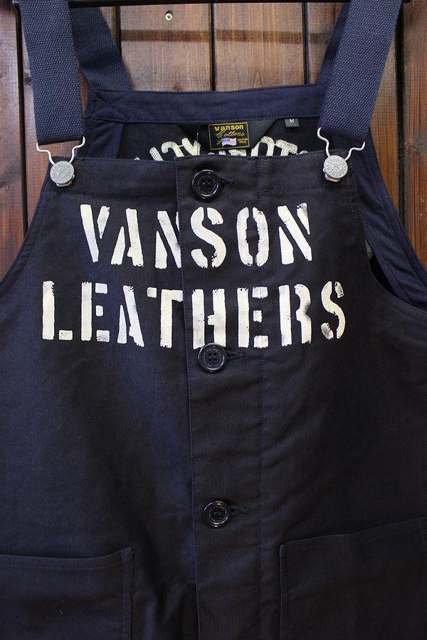 VANSON バンソン NVAO-2101 デッキオーバーオール ネイビー