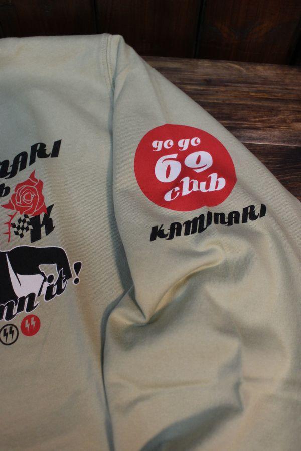 エフ商会 カミナリ KMLT-194 KAMINARI Go Go club コルベット 長袖Tシャツ ベージュ