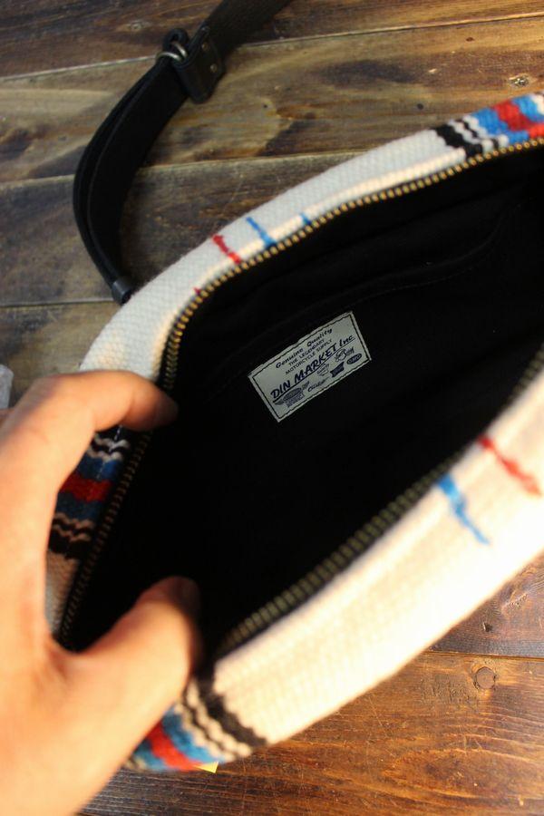 DIN MARKET ORTEGA'S DAY TRIP BAG オルテガズ デイ トリップバッグ ブラックベース/アイボリー系