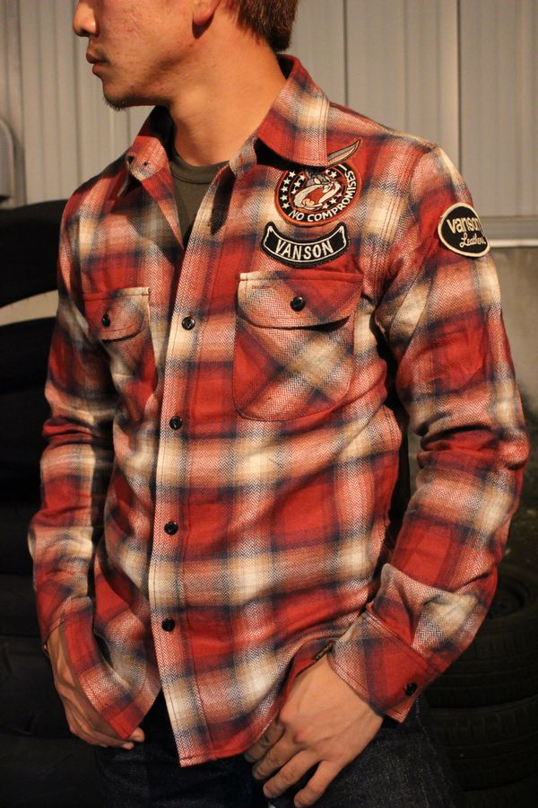 VANSON(バンソン) VANSON×Looney Tunes バンソン×ルニーテューンズ LTV-737 チェックシャツ バニー