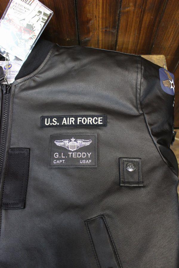 TEDCOMPANY エフ商会 TEDMANテッドマン レザーフライトジャケット TMAL-490 MA-1