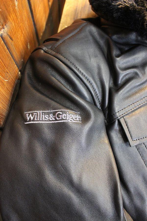 Willis&Geiger ウィリス&ガイガー WGL-612N レザージャケット ブラック プロテクター付き 襟ボア・ライナー着脱式 ブラック