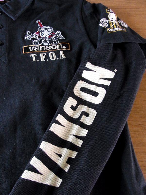 VANSON(バンソン) 武装戦線 TFOA crv-626 長袖ポロシャツ