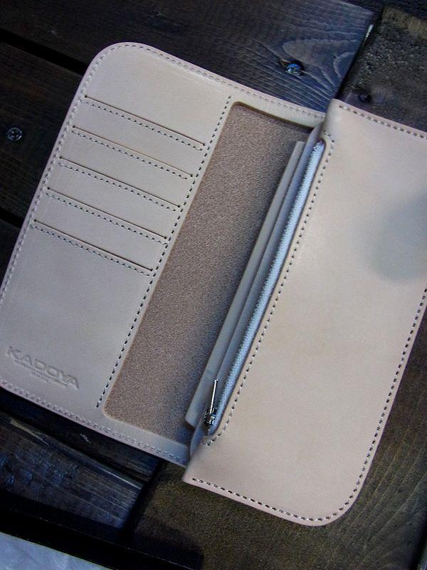 カドヤ(KADOYA)  SADDLE WALLET (L)  サドルウォレット(L)  ナチュラル