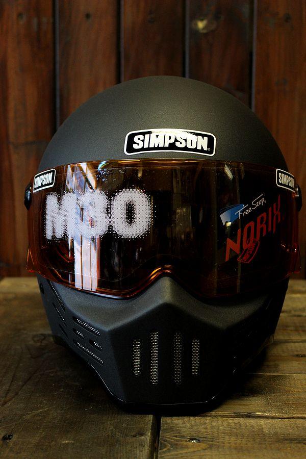 SIMPSON シンプソンヘルメット M30復刻版専用 アンバーシールド