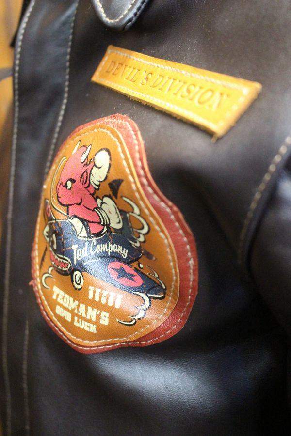 TEDCOMPANY エフ商会 TEDMANテッドマン レザーフライトジャケット A-2 TA2-100 ミリタリー革ジャン