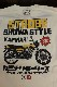 エフ商会 カミナリ KMLT-195 STROBE SHOWA STYLE ヤマハ RD400 RD250 長袖Tシャツ オフホワイト
