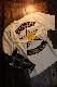 VANSON バンソン NVLT-2104 天竺フェイクロンTee 重ね着風長袖Tシャツ ナチュラル/OFFチェック