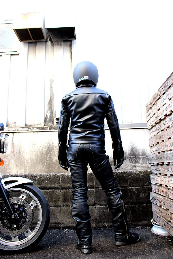 KADOYA(カドヤ)K'S LEATHER TCR 襟付きタイトラインライダース 革ジャン