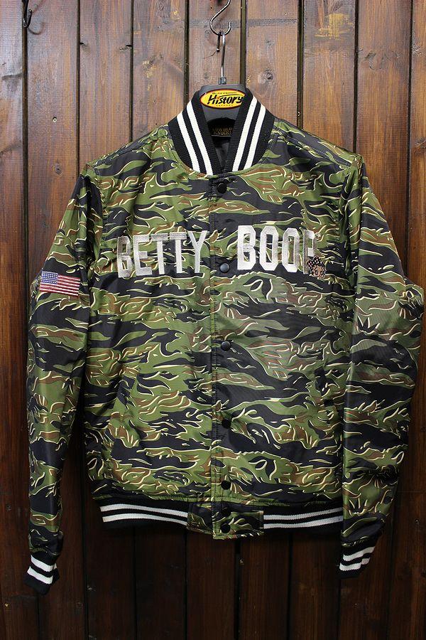 LOWBLOW KNUCKLE ローブローナックル BETTY BOOP ベティ ブープ 567407 カリフォルニア ブープ スタジアム ジャケット