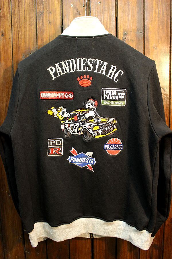 PANDIESTA JAPAN パンディエスタ PD-Rレーシングジップハイ 598216 zipアップスウェット 箱スカ