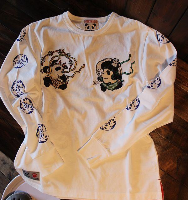 PANDIESTA JAPAN パンディエスタ 539201 風神雷神ソウル長袖Tシャツ ホワイト