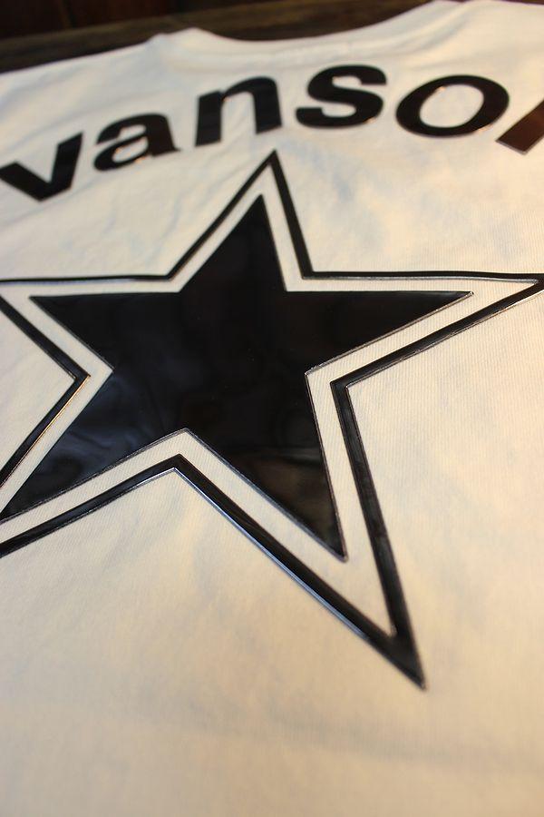 VANSON×LOONEY TUNES バンソン コラボ LTV-2110 天竺半袖Tee ロードランナー エンボスプリント オフホワイト