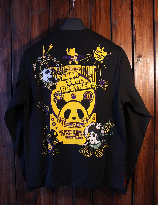 PANDIESTA JAPAN パンディエスタ 539201 風神雷神ソウル長袖Tシャツ ブラック