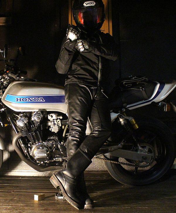 KADOYA(カドヤ)K'S LEATHER   LTR - PANTS スキニーレザーパンツ ブラウン