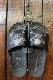 VANSON  バンソン NVSK-2101シャワーサンダル スカル ブラック/.Lチャコール