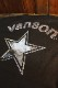 VANSON×LOONEY TUNES バンソン コラボ LTV-2110 天竺半袖Tee ロードランナー エンボスプリント ブラック/シルバー
