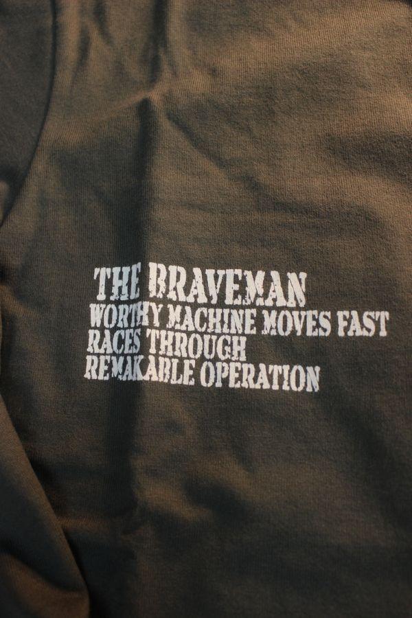 The BRAVE-MAN×BETTY BOOP ベティ長袖Tシャツ BBB-2033 天竺ロンTee 刺繍 オリーブ