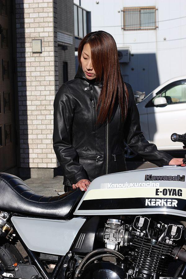 KADOYA(カドヤ) K'S LEATHER  EURO CAPP-LADIES ユーロカップレディース ブラック