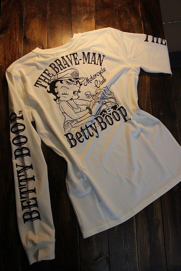 The BRAVE-MAN×BETTY BOOP ベティ BBB-2107 ドライTee オフホワイト
