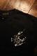 FLAG STAFF フラッグスタッフ 412012 天竺半袖Tee 刺繍Tシャツ アメリカン バイク ブラック