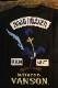 VANSON×LOONEY TUNES バンソン コラボ LTV-2108 天竺半袖Tee ロードランナー 刺繍Tシャツ ブラック