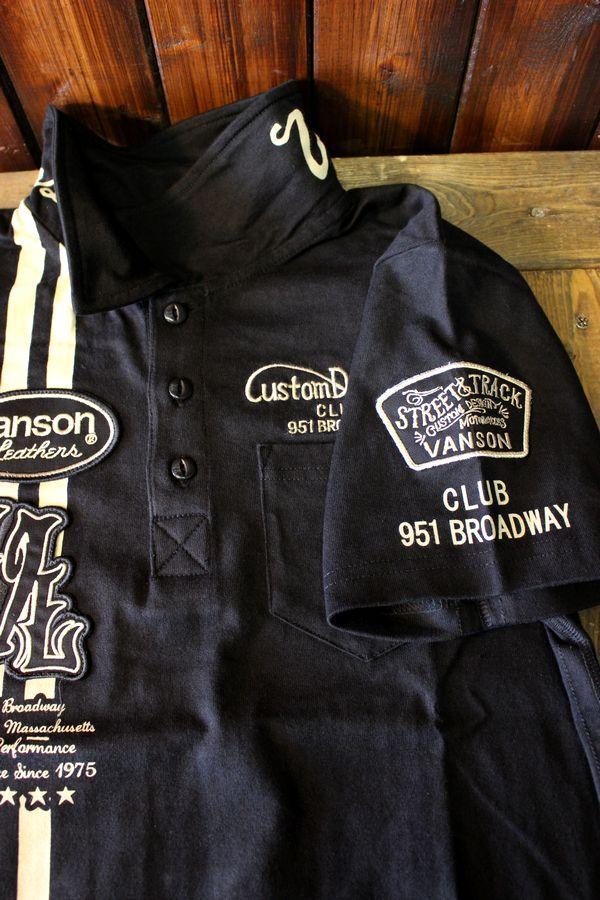 VANSON バンソン NVPS-812 天竺半袖ポロシャツ