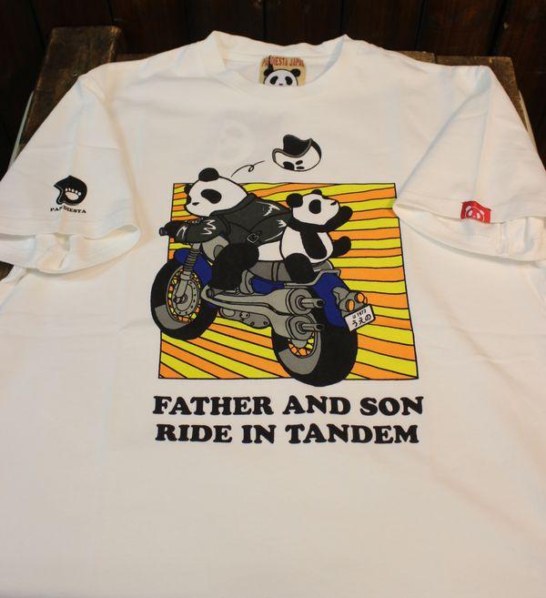 PANDIESTA JAPAN パンディエスタモータース 529102 タンデムライドTee 白 ホワイト