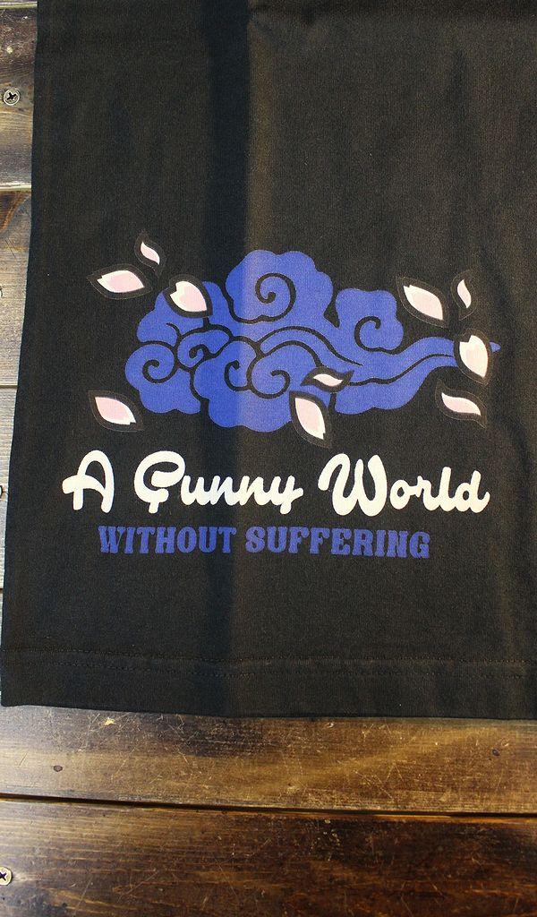 エフ商会 爆烈爛漫娘 バクレツ RMT-314 雲中供養猫  Tシャツ ブラック