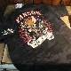 VANSON×Tom and Jerry トムとジェリーコラボ TJV-922 天竺半袖Tee 刺繍Tシャツ ブラックカモ