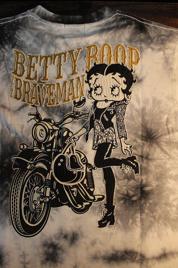 The BRAVE-MAN×BETTY BOOP ベティTシャツ BBB-2007 天竺半袖Tee バイク タイダイ