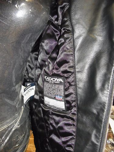 カドヤ(KADOYA) MF-W レディース レザージャケット 襟ボア付き ダブルライダース 柔らかいW革ジャン