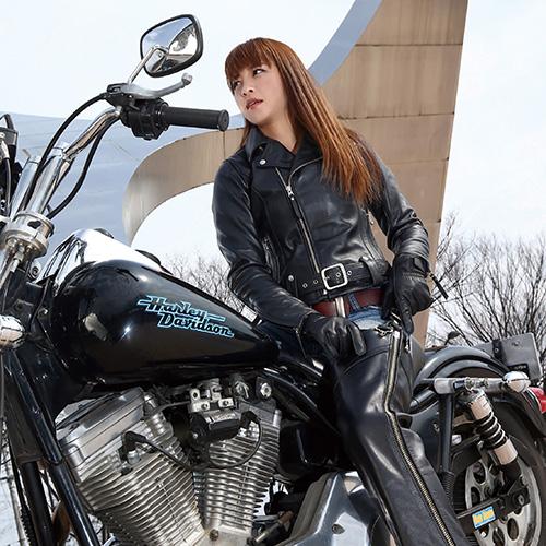 KADOYA (カドヤ) KL-W4 レディース ダブルライダース バイク 柔らかい革ジャン