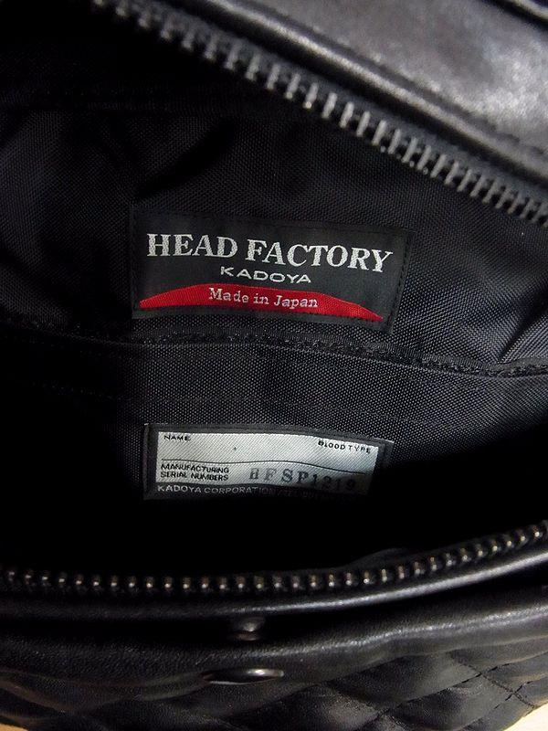 カドヤ(KADOYA)  HFG/SHOULDER BAG-PTD ヘッドファクトリーショルダーバッグ・パテッド