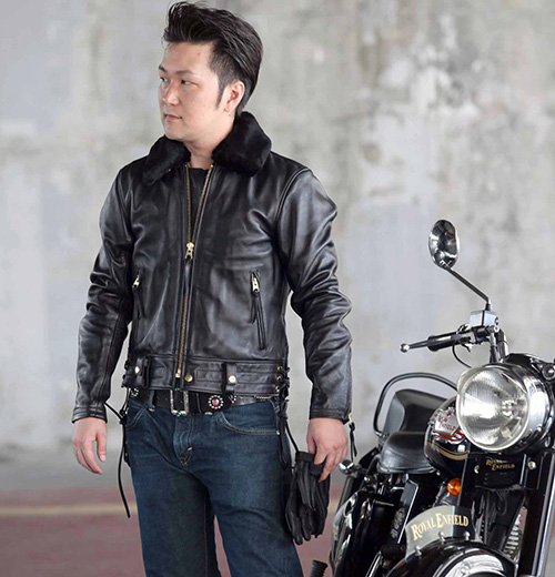 カドヤ(KADOYA) CHW-JP レザージャケット 革ジャン バイク 硬い革